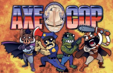 Axe Cop Video Game Character Promotional Art