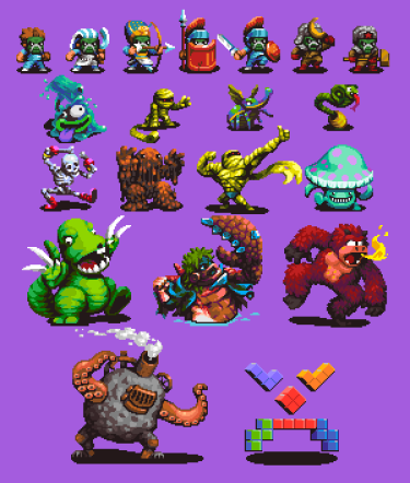 Commissioned JRPG Monster Sprites
