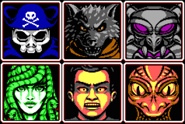Villain Roster for Puzzle Game by Red Triangle Games